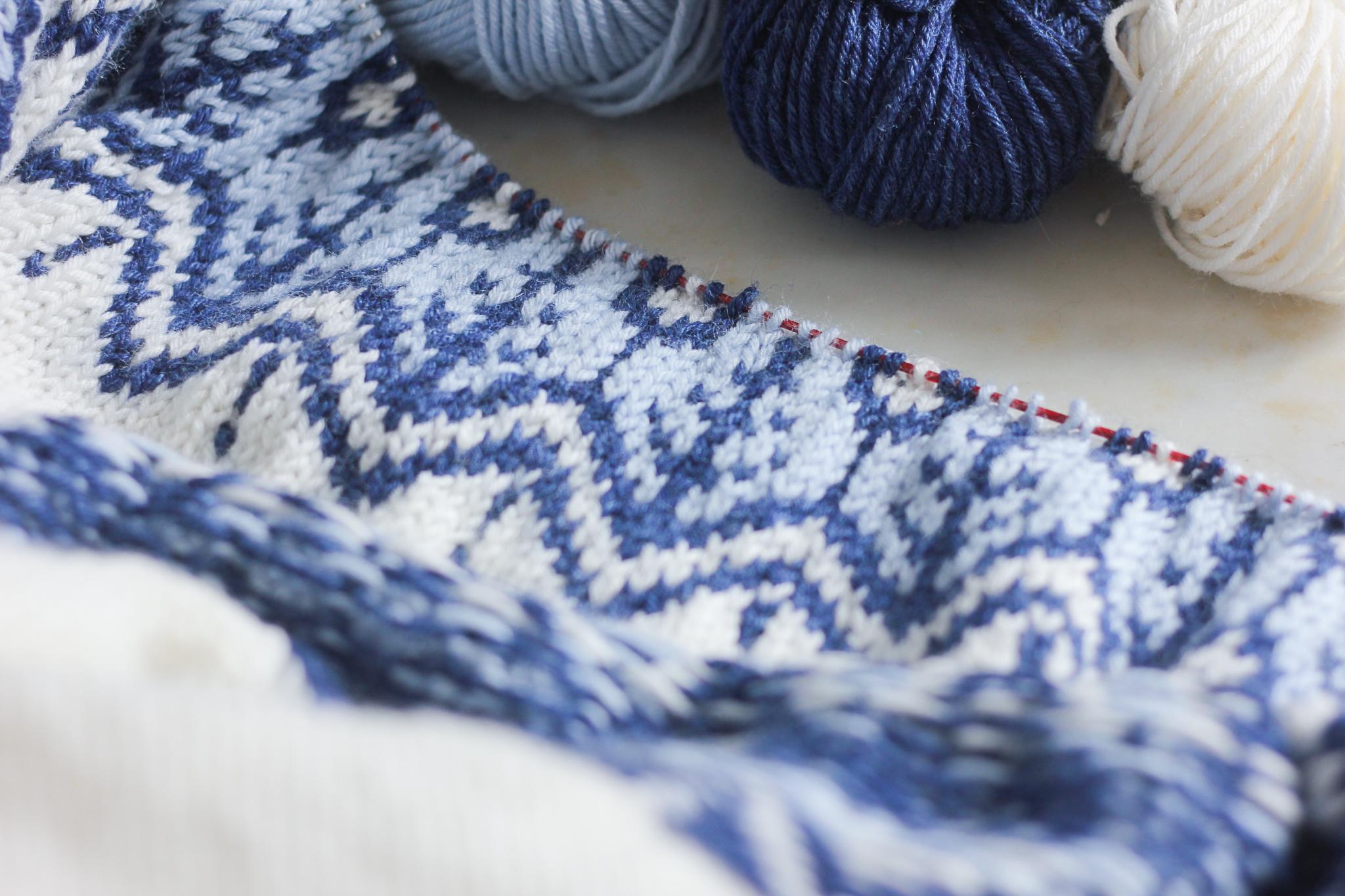 Tricoter jacquard norvégien