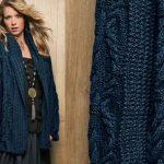 Tricoter veste col chale