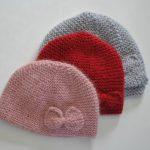 Tricot bonnet bébé facile naissance