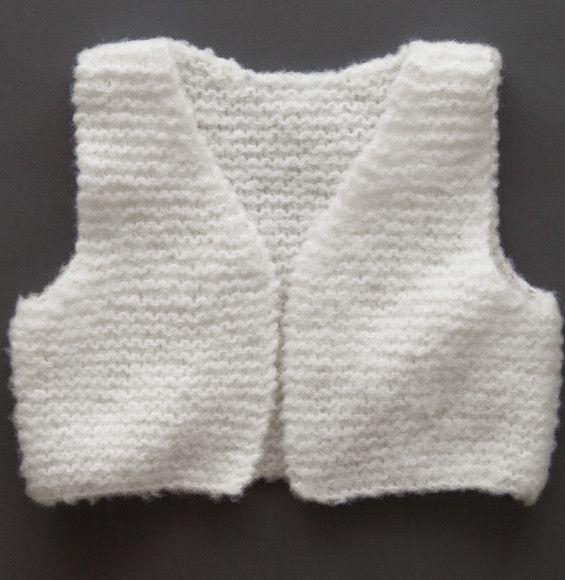 Tricoter gilet sans manche bebe