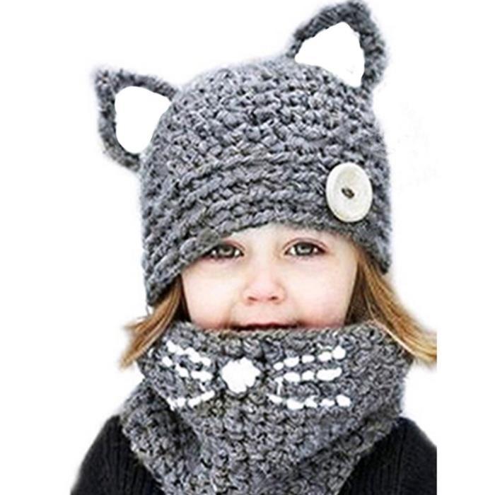 Tricot bonnet bébé avec oreilles