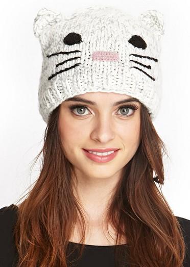 Tricoter un bonnet oreille de chat