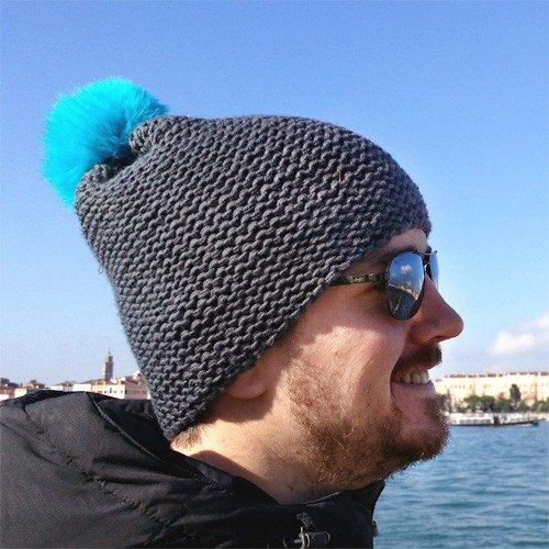Tricot bonnet homme