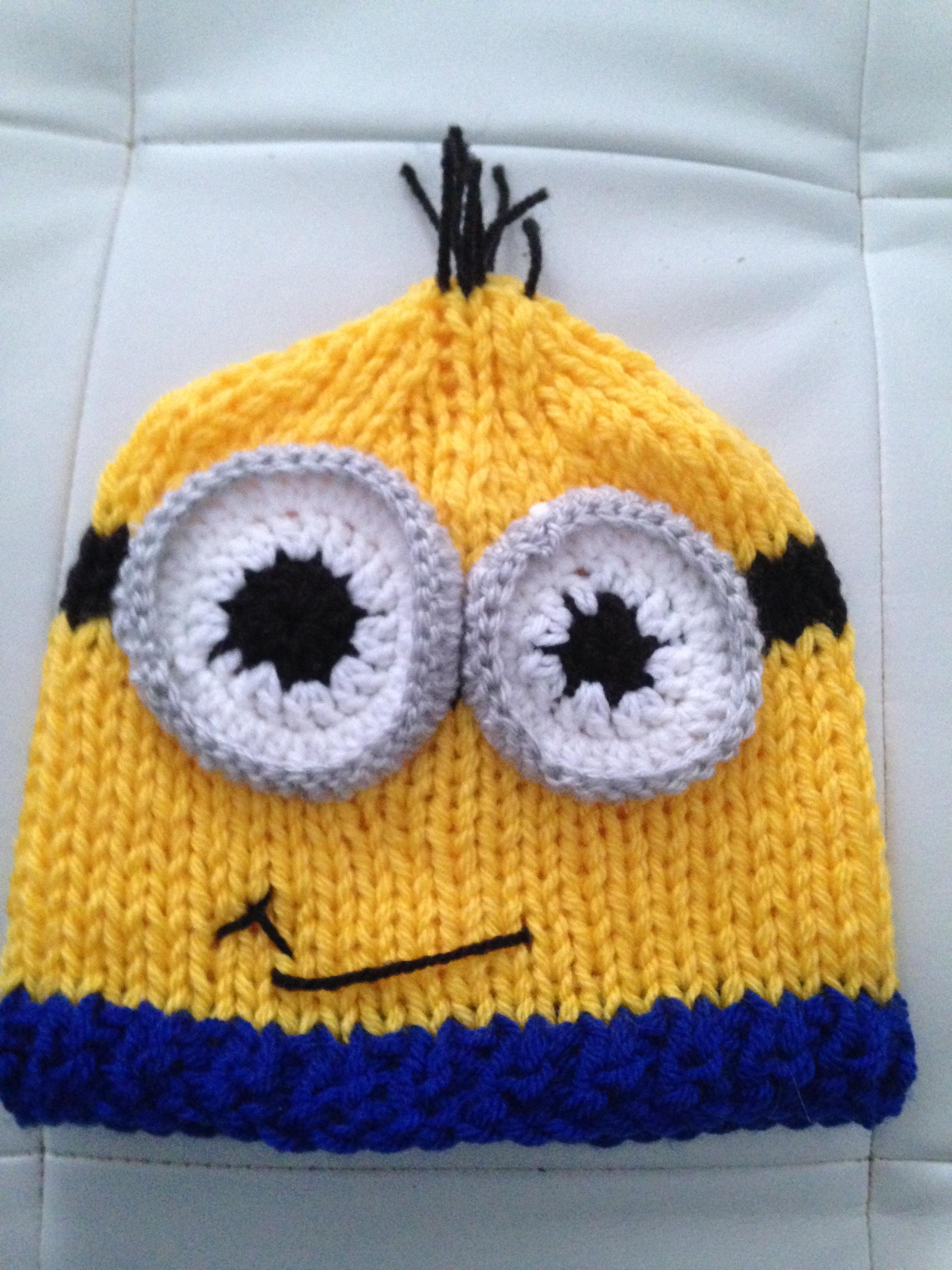 Comment tricoter un bonnet minion