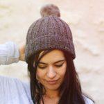 Tricot bonnet loose femme