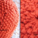 Tricot point de riz diminution