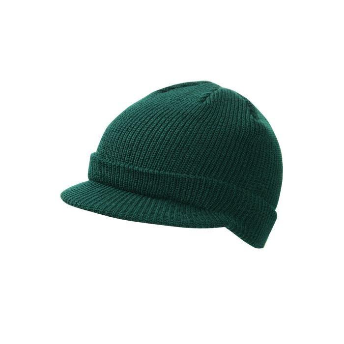 Tricoter un bonnet avec visière