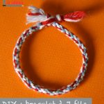 Tricotin bracelet brésilien