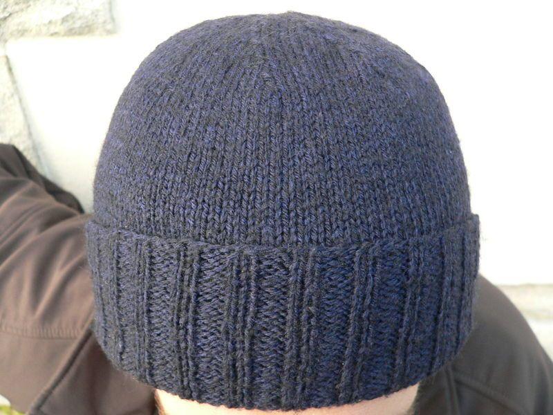 Tricoter un bonnet revers