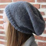 Comment tricoter un bonnet slouchy
