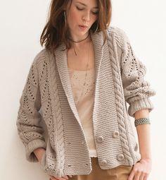 Tricoter veste femme facile