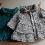 Tricot facile manteau bebe
