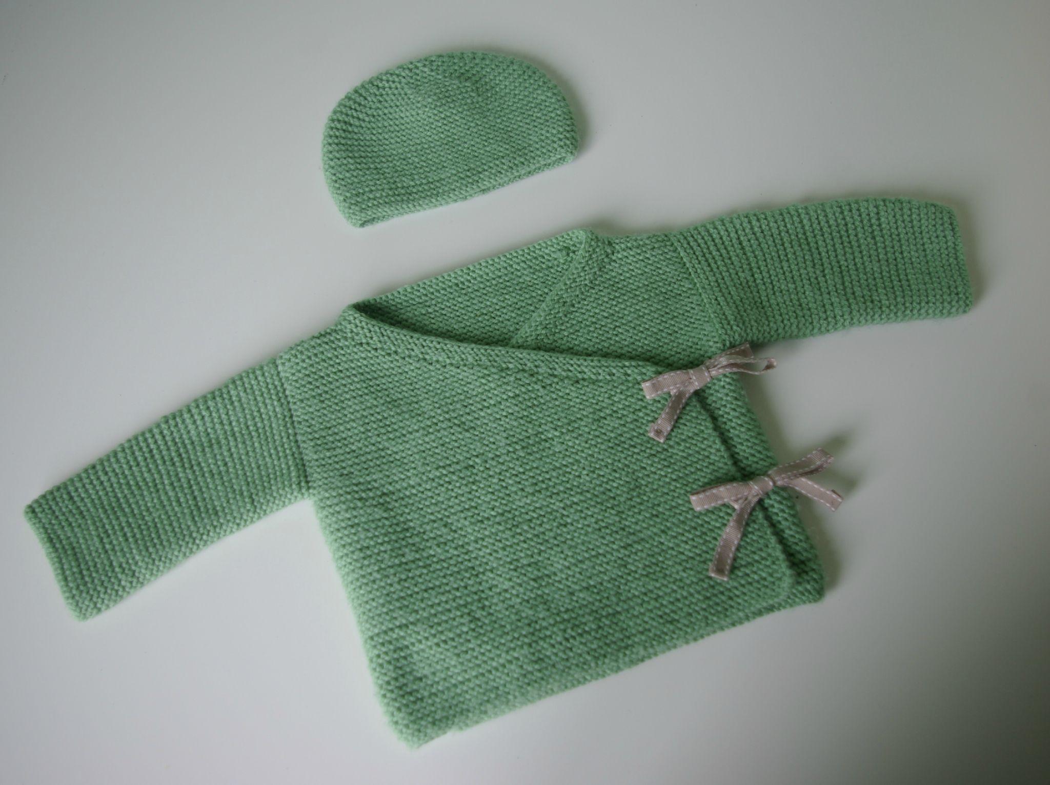 Modele tricot kimono bébé
