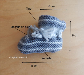 Tricoter chaussons naissance