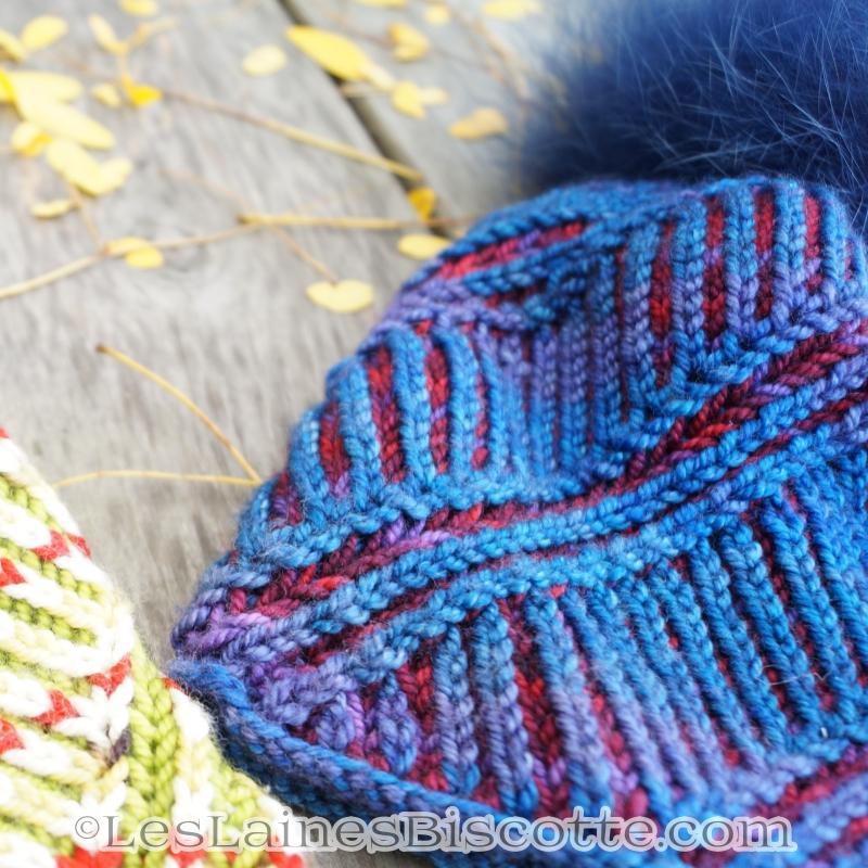 Tricoter en rond avec deux couleurs