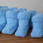 Chaussons tricot point de riz