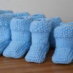 Chaussons tricot point de riz