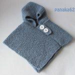 Poncho bebe tricot ou crochet