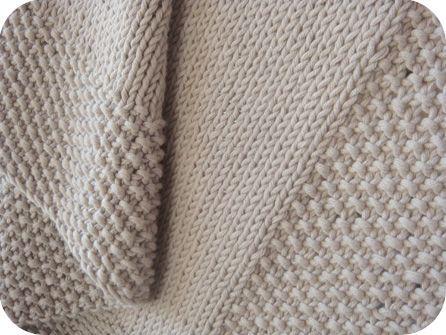Couverture de bébé tricot aiguille