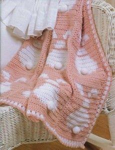 Couverture tricot bébé lapin