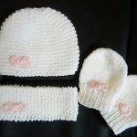 Tricoter naissance bonnet