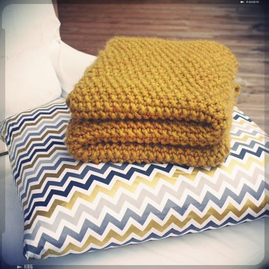 Tricoter un plaid au tricot