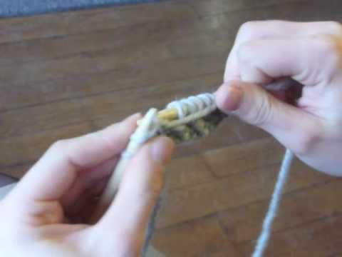 Arreter un tricot au point de riz