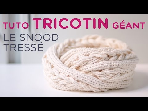 Tuto tricotin geant rond