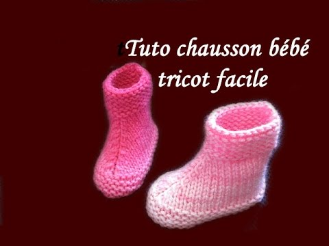 Youtube tricoter chausson bebe
