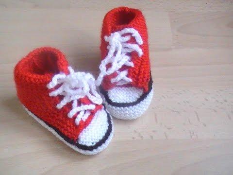 Tricot bébé chausson