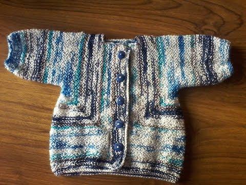 Tricot veste bébé 6 mois