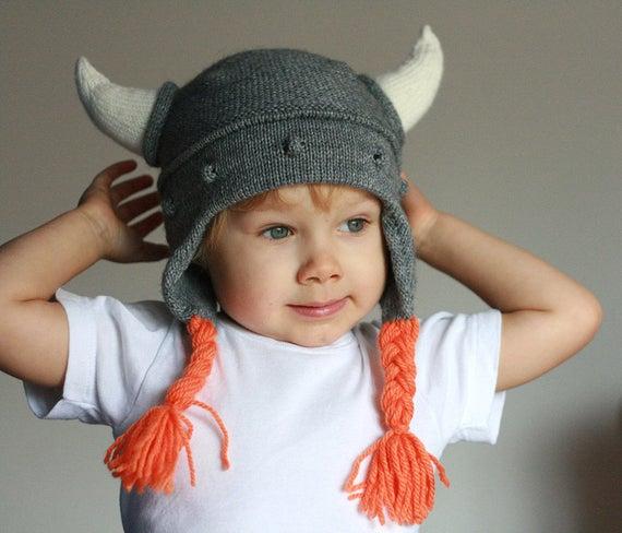 Comment tricoter un bonnet viking