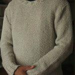 Pull tricot point de riz
