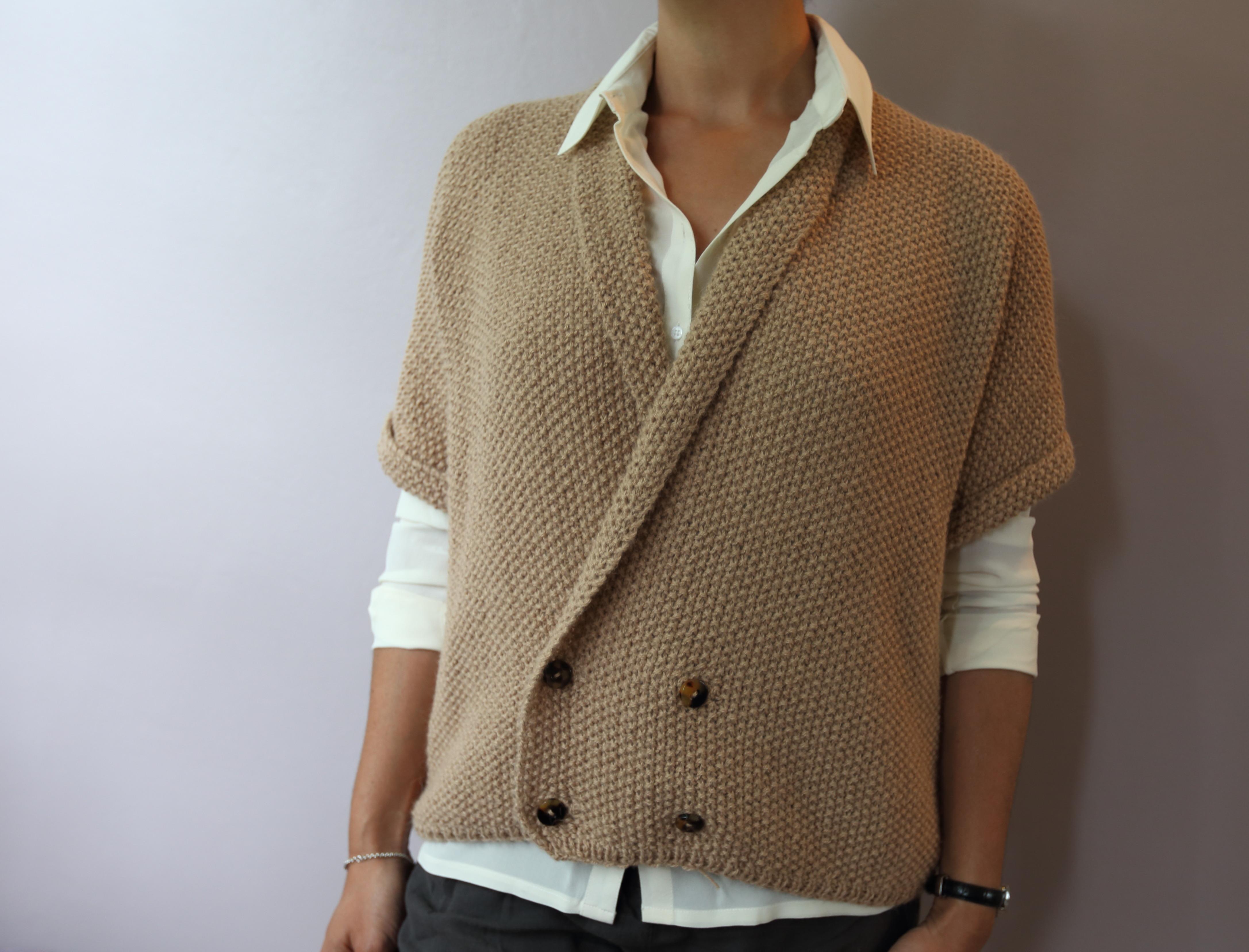 Modele tricot veste point de riz