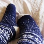 Tricoter chaussettes aiguilles circulaires