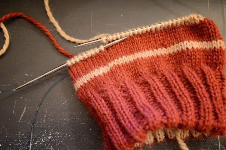 Tricoter des rayures en rond sans décalage