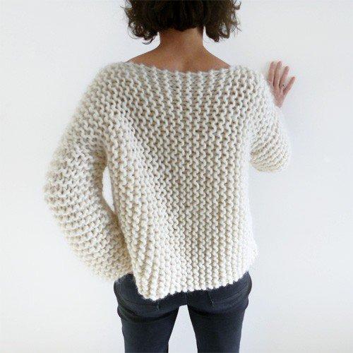 Tricoter un pull facile débutant