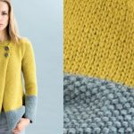 Veste tricot point de riz