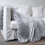 Tricoter un plaid en laine xxl