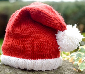 Tricoter un bonnet noel
