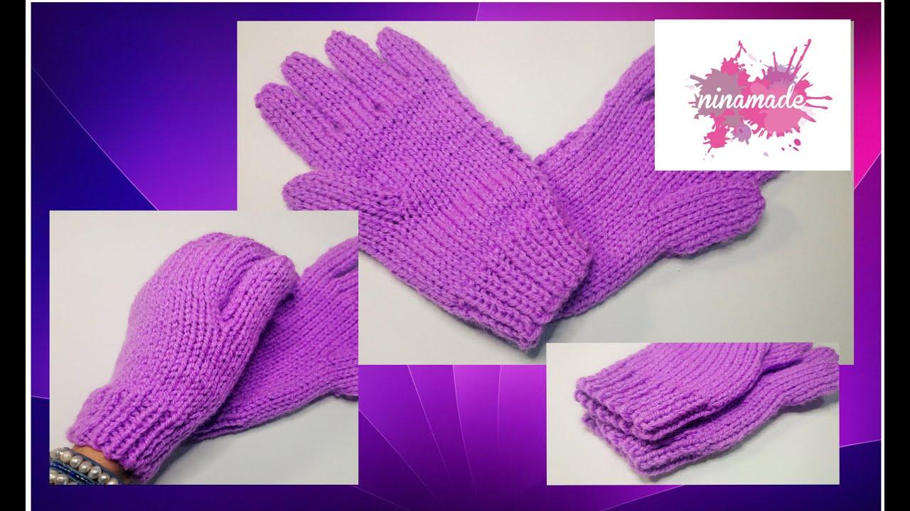 Tricot facile gants