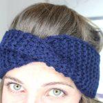 Tricot headband torsade