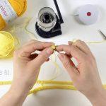 Prénom en tricotin tuto