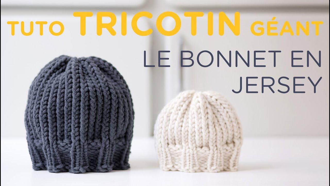 Tricoter un bonnet avec un tricotin rond