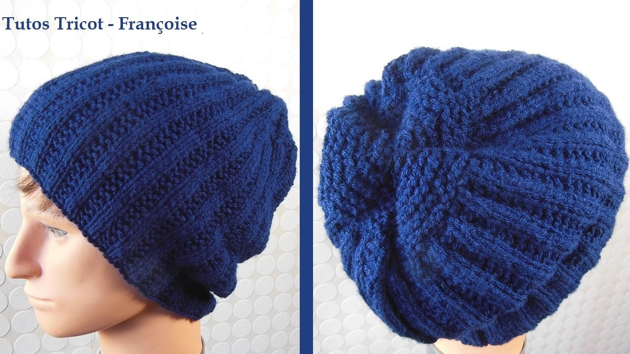 Youtube tricoter un bonnet pour homme