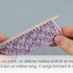 Tricot point de riz double