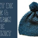 Bonnet adulte tricot point de riz