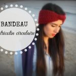 Bandeau tricot point de riz