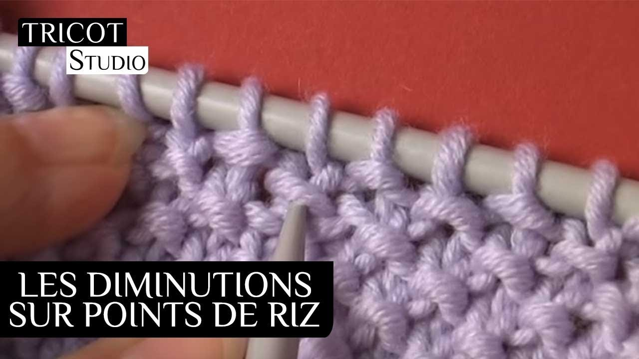 Tricot point de riz comment faire