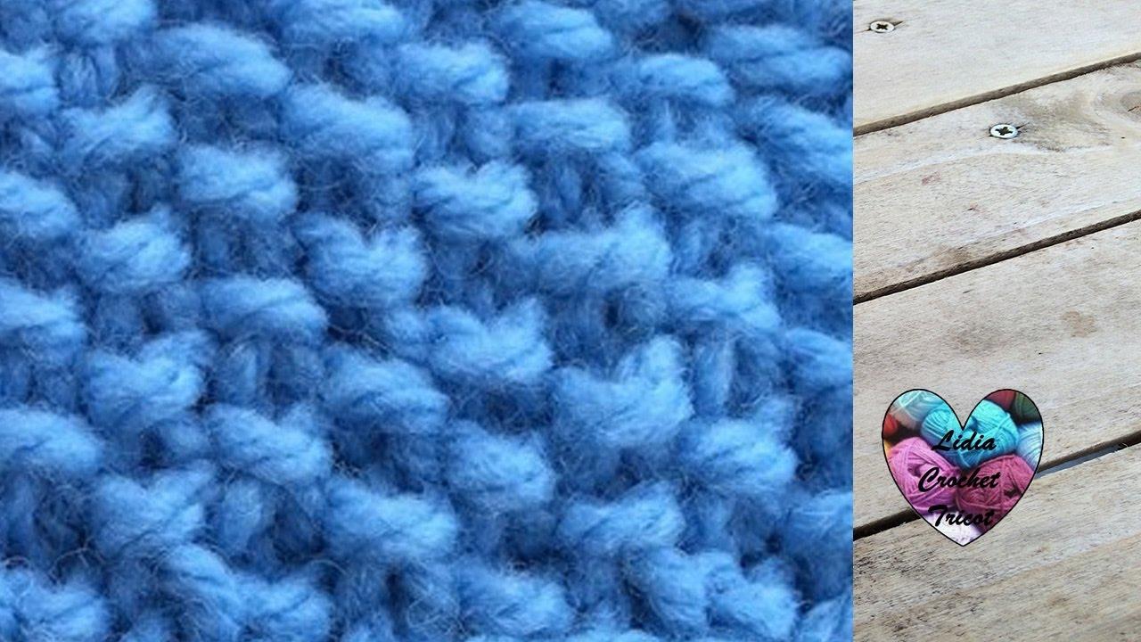 Couture tricot point de riz